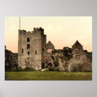 Castillo II, Shropshire, Inglaterra de Ludlow Póster
