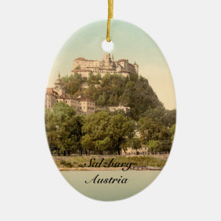 Castillo III, Salzburg, Austria de Hohensalzburg Adorno Navideño Ovalado De Cerámica