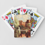 Castillo III, Shropshire, Inglaterra de Ludlow Baraja Cartas De Poker