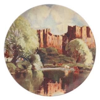Castillo III, Shropshire, Inglaterra de Ludlow Platos Para Fiestas