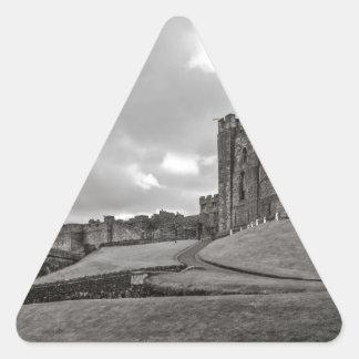 Castillo Inglaterra de Bamburgh Pegatina Triangular