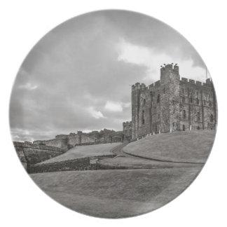 Castillo Inglaterra de Bamburgh Plato De Comida