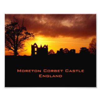 Castillo Inglaterra de Moreton Corbet Fotografía