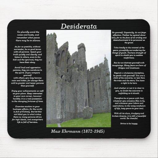 Castillo inglés viejo Mousepad de los DESIDERÁTUMS Tapete De Ratón