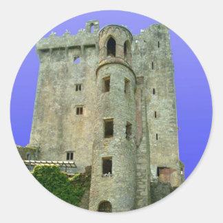 Castillo Irlanda de la lisonja Pegatina Redonda