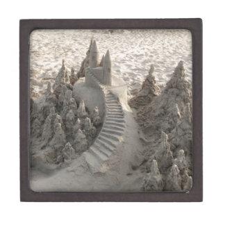 Castillo mágico de la arena cajas de joyas de calidad