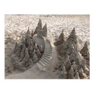 Castillo mágico de la arena postal