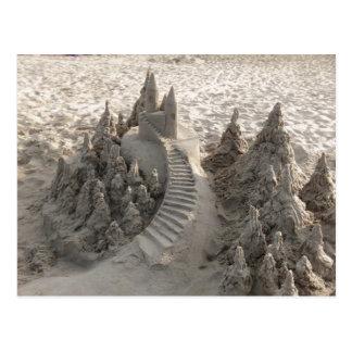 Castillo mágico de la arena tarjetas postales