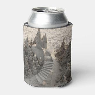 Castillo mágico de la arena enfriador de latas