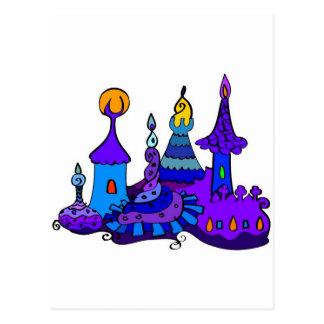 Castillo mágico - fantasía secreta del misterio tarjetas postales