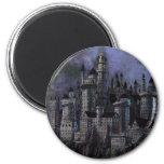 Castillo magnífico de Hogwarts Imán Redondo 5 Cm