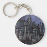 Castillo magnífico de Hogwarts Llavero Redondo Tipo Pin