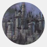Castillo magnífico de Hogwarts Pegatina Redonda