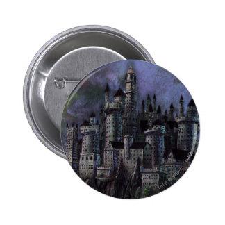 Castillo magnífico de Hogwarts Pin Redondo De 2 Pulgadas