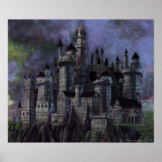 Castillo magnífico de Hogwarts Poster