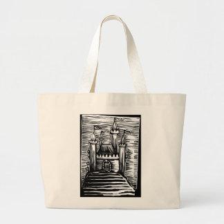 Castillo medieval bolsa lienzo