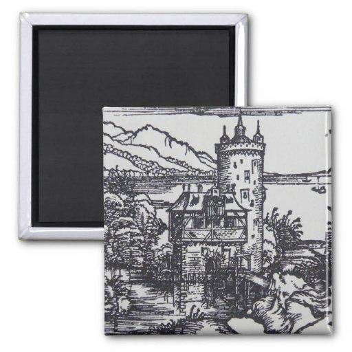 Castillo medieval imán