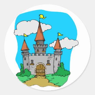 Castillo medieval pegatinas redondas