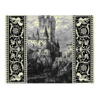 Castillo medieval tarjetas postales