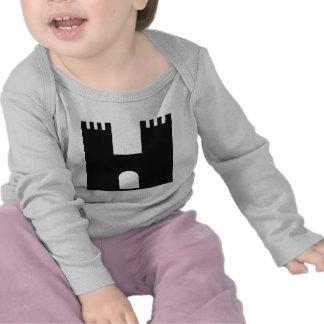 castillo negro camisetas