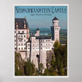 Castillo Neuschwanstein de Marienbrücke - inglés Póster