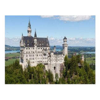 Castillo Neuschwanstein en el alemán de Baviera de Postales