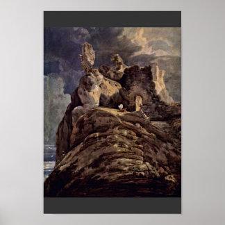 Castillo Northumberland de Bamburgh de Thomas Girt Posters