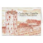 Castillo Notecard de Crowley Tarjeta