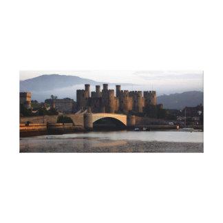 Castillo País de Gales del norte de Conwy Impresión En Lienzo
