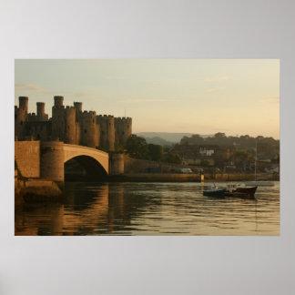 Castillo País de Gales del norte de Conwy Poster