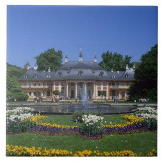 Castillo Pillnitz, Dresden, Sajonia, Alemania Azulejo Cuadrado Grande