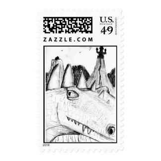 Castillo principal del dibujo del dragón en bestia envio