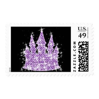 Castillo púrpura personalizado de Cenicienta del Franqueo