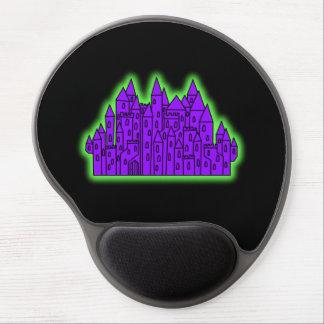 Castillo púrpura y verde alfombrilla de ratón con gel
