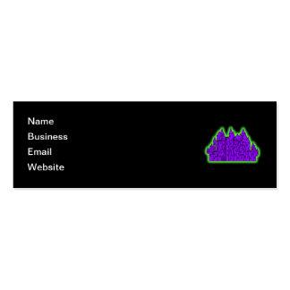 Castillo púrpura y verde tarjeta personal