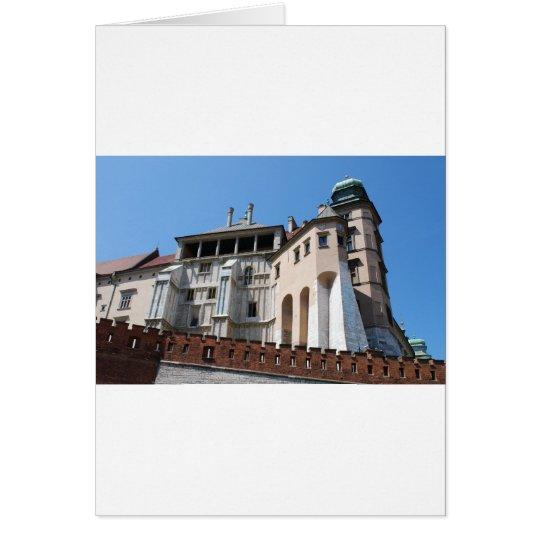 Castillo real de Wawel en Cracovia Tarjeta De Felicitación