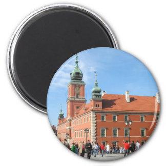 Castillo real en Varsovia Imán De Frigorífico