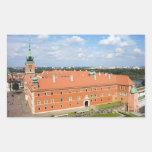 Castillo real en Varsovia Rectangular Pegatinas