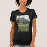 Castillo rojo de Edimburgo, flores de Escocia Camiseta
