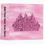 Castillo rosado del cuento de hadas