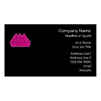 Castillo rosado tarjetas de visita