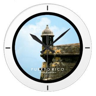 Castillo San Felipe del Morro, Puerto Rico Large Clock