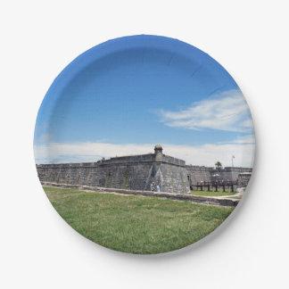 Castillo San Marcos 3 Platos De Papel