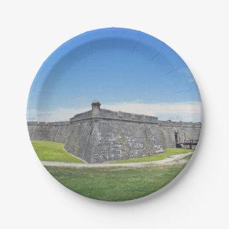 Castillo San Marcos 4 Platos De Papel