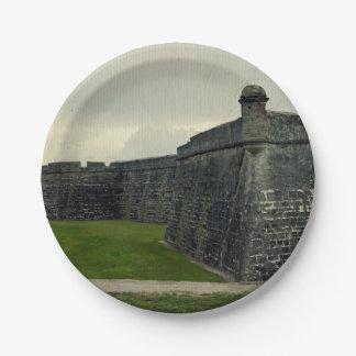 Castillo San Marcos Platos De Papel