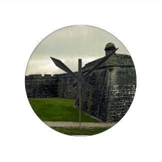 Castillo San Marcos Reloj Redondo Mediano