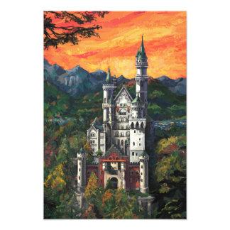 Castillo Schloss Neuschwanstein Arte Fotográfico