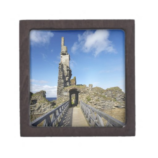 Castillo Sinclair Girnigoe, mecha, Caithness, 2 Caja De Recuerdo De Calidad