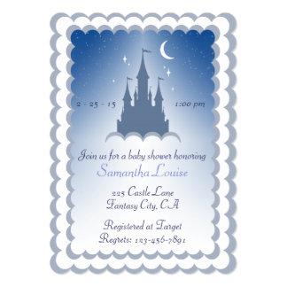 """Castillo soñador azul en la fiesta de bienvenida invitación 5"""" x 7"""""""