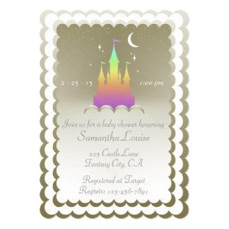 """Castillo soñador del arco iris en la fiesta de invitación 5"""" x 7"""""""